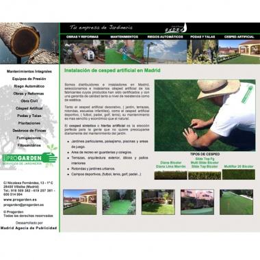 Diseño y programación de pagina web para empresas de jardinería