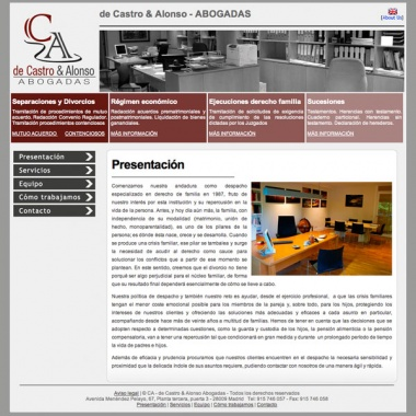 Página web para despacho de abogadas en Madrid