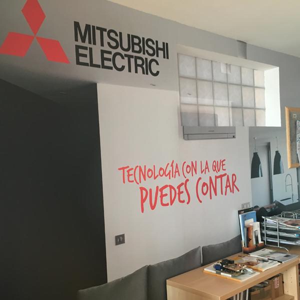 Interiorismo decorado en vinilo en oficina en madrid - Interiorismo en madrid ...