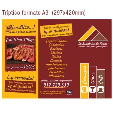 Diseño de cartas de restaurante en Las Rozas