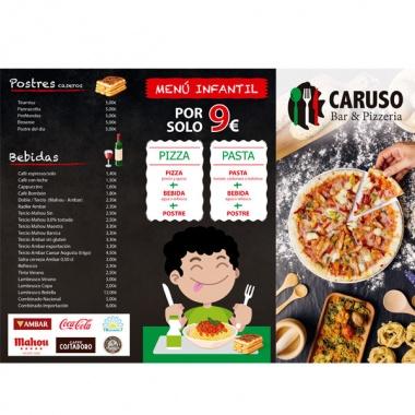 Diseño de cartas para restaurantes en Las Rozas
