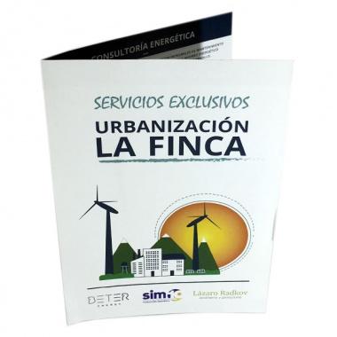 Dípticos para empresa de ahorro energético