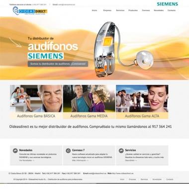 Diseño de páginas web para ópticas y audioprotesistas