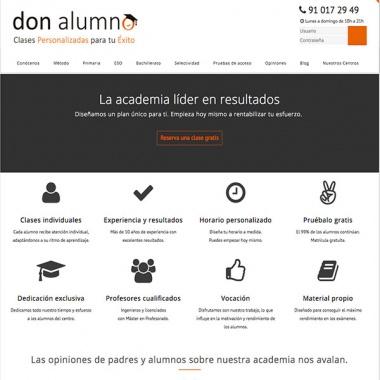 Diseño páginas web para academias en Las Rozas