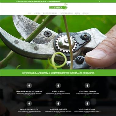 Diseño paginas web para empresas de jardineria