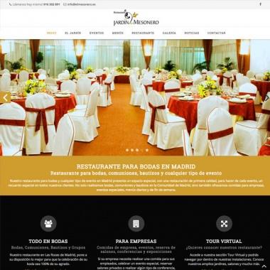 Diseño web para restaurante de bodas en Madrid