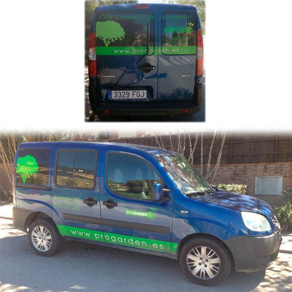Dise o de furgoneta para empresa de servicios de - Trabajo de jardineria en madrid ...